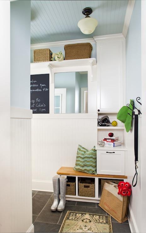 Mudroom Design Cottage Laundry Room Benjamin Moore