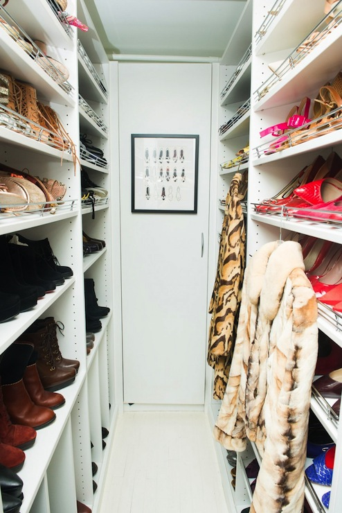 Long And Narrow Walk Through Closet Design Ideas