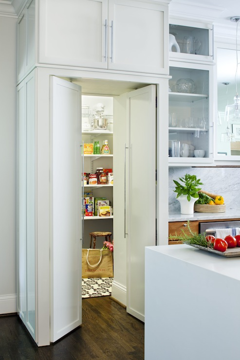 Hidden pantry design ideas for Walk in pantry