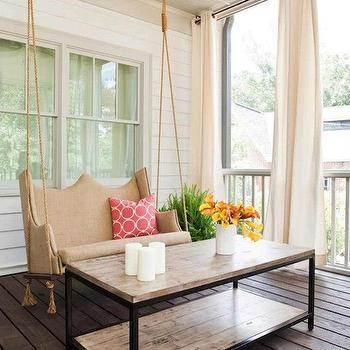 Hanging Porch Swing, Cottage, porch, TerraCotta Properties