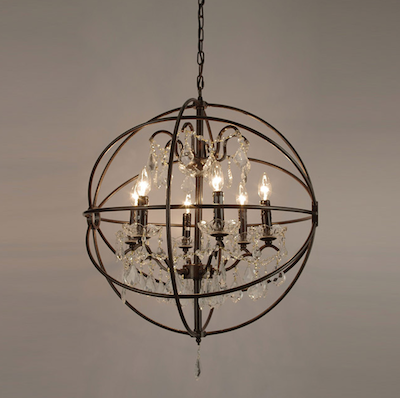 view full size & Foucaults Iron Orb Chandelier - Look 4 Less and Steals and Deals. azcodes.com
