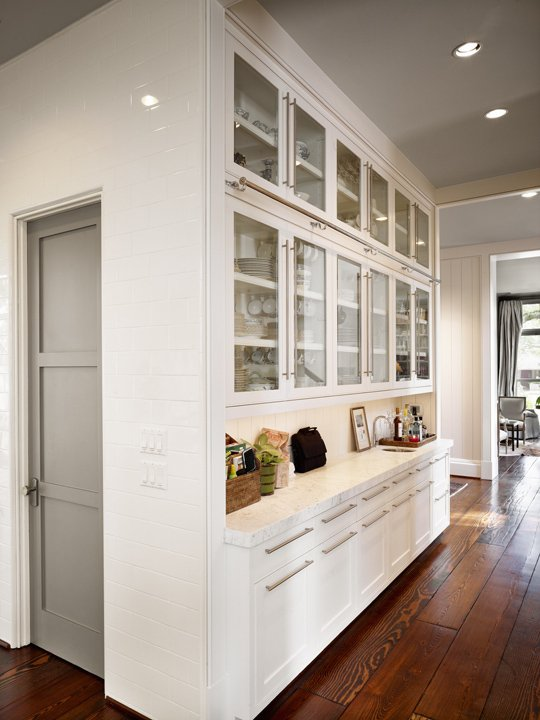 Modern butler 39 s pantry contemporary kitchen dillon for Modern kitchen pantry