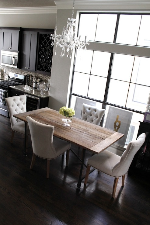 Tufted Dining Chairs Contemporary Room