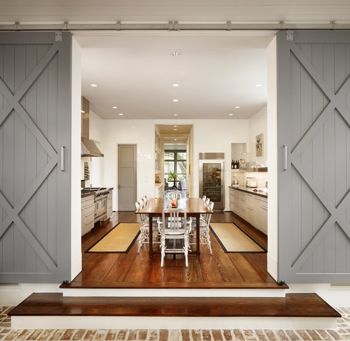 Gray Sliding Barn Doors