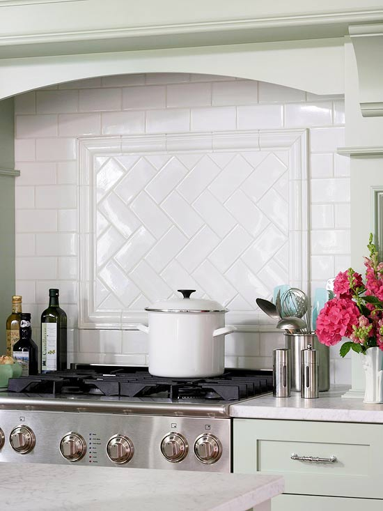 Christine Donner Kitchens  Subway Tile Herringbone Pattern view full size