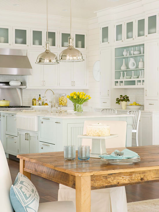 Bhg Kitchen Design Style turquoise blue kitchen  cottage  kitchen  bhg