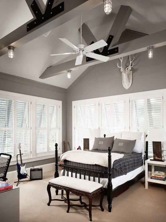 Grey Walls Country Boy S Room Benjamin Moore Storm