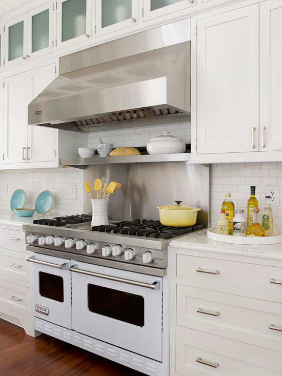 Well-liked Stainless Steel Cooktop Shelf - Cottage - kitchen - BHG OJ12