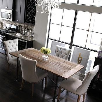 tufted dining chairs - eclectic - dining room - design sponge