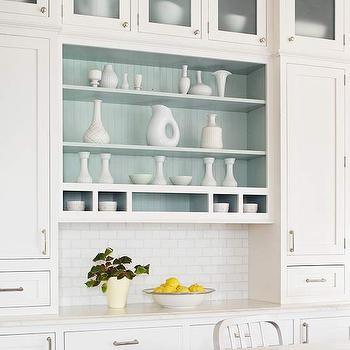 Open Kitchen Shelving, Cottage, kitchen, BHG