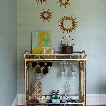 Sunburst Wall Decor, Contemporary, dining room, Kara Cox Interiors