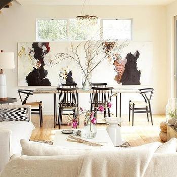 Ochre Arctic Pear Chandelier, Eclectic, living room, Dehn Bloom Design