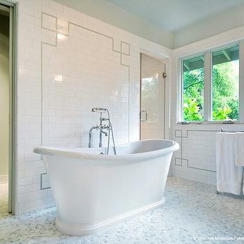 Subway Tile Backsplash, Transitional, bathroom, Dillon Kyle Architecture