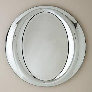 Contemporary Polished Chrome Mirror, Mig & Tig