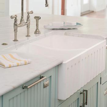 Beadboard Cabinets, Cottage, kitchen, BHG