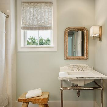 Green and Brown Bathroom Design, Cottage, bathroom, Dillon Kyle Architecture