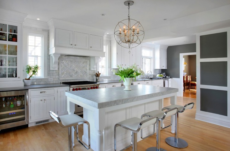 Chelsea Gray Kitchen With Dark Floor