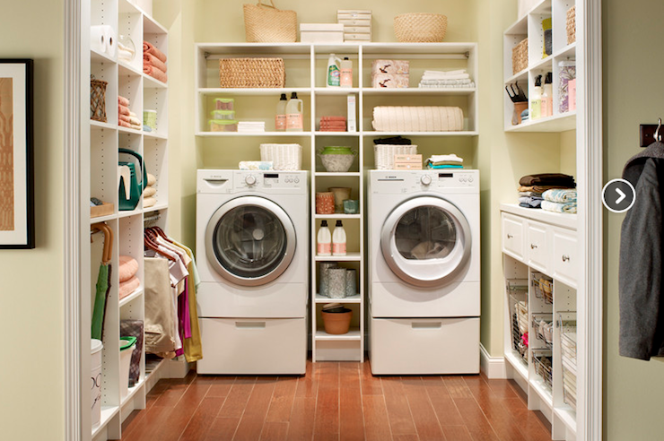 green laundry room traditional laundry room closetmaid