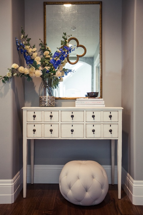 Apothecary Table Transitional Entrance Foyer Alice