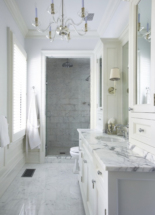 Calcutta Marble Traditional Bathroom Lynn Morgan Design