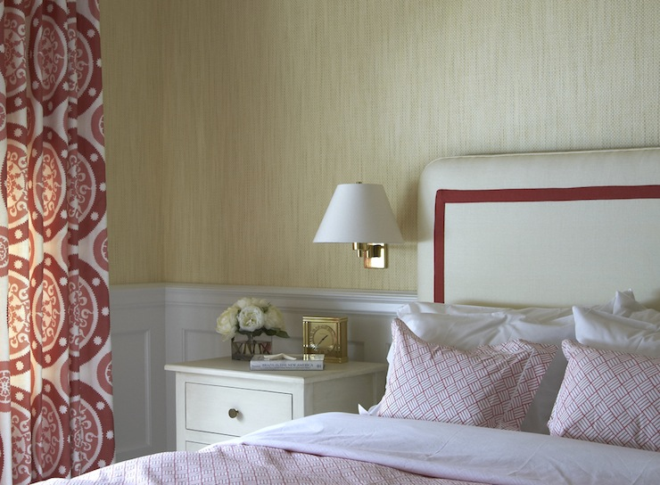 red curtains design ideas, Bedroom decor