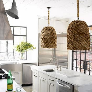 White Plank Ceiling, Cottage, kitchen, Kay Douglass