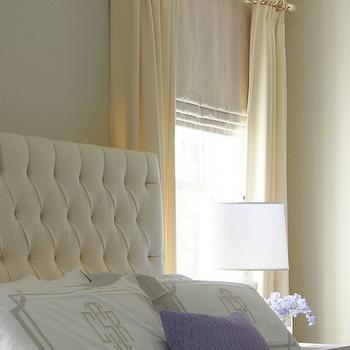 Velvet Tufted Headboard, Traditional, bedroom, Lynn Morgan Design