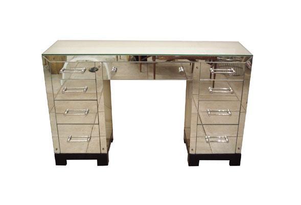 Rectangular Mirrored Desk   John Salibello