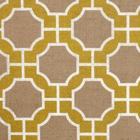 Mimosa Geometric Yellow White Ikat Wallpaper