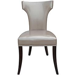 sc 1 st  Decorpad & Leather Dining Chairs with NailHead Trim (Set of 2) - Overstock.com