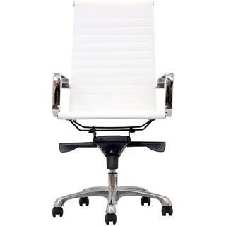 Malibu High-back White Vinyl Office Chair, Overstock.com
