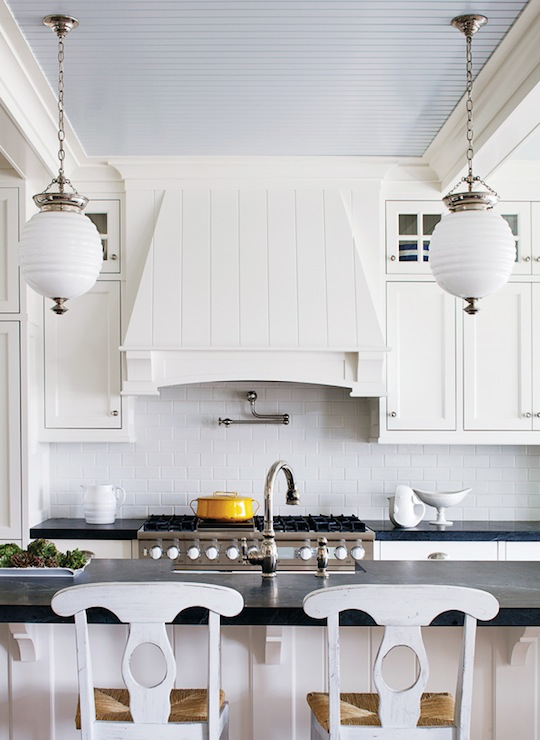 Beadboard Kitchen Ceiling Cottage Kitchen Sherwin