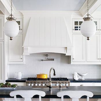 Beadboard Kitchen Ceiling, Cottage, kitchen, Sherwin Williams Rarified Air, Boston Magazine