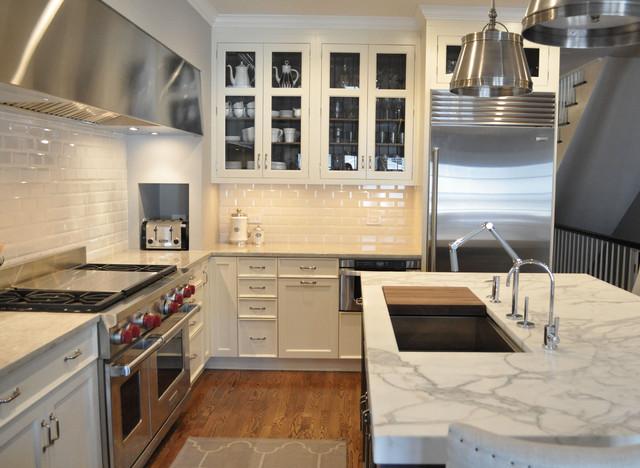 Built In Toaster Nook Transitional Kitchen Kitchen Lab