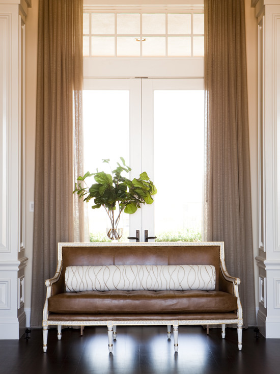Leather Settee, French, living room, Alice Lane Home