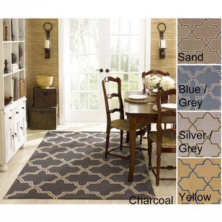 Handmade Luna Marrakesh Trellis Wool Rug 5 X 8