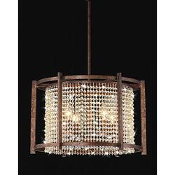 sc 1 st  Decorpad & Dark Brown 4-light Crystal Pendant - Overstock.com azcodes.com
