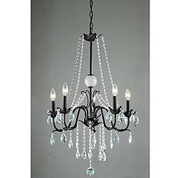 Iron Classic 5-light Crystal Chandelier - Overstock.com
