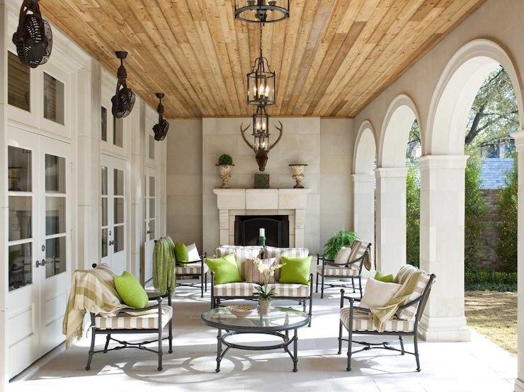 Covered deck mediterranean deck patio symmetry architects