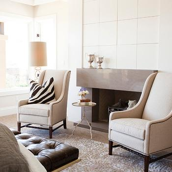 Bedroom Fireplace, Contemporary, bedroom, Alice Lane Home