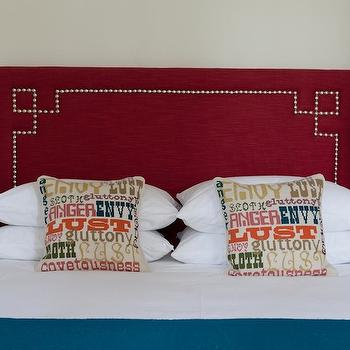Studded Headboard, Eclectic, bedroom, Rachel Reider Interiors
