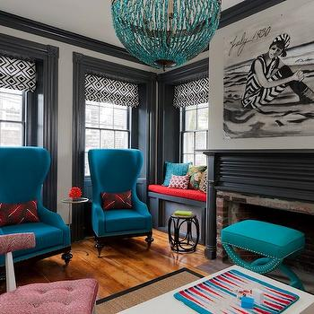 Gray Bookcase Traditional Living Room Dana Wolter Interiors