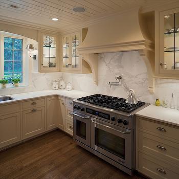 Cream Kitchen Cabinets, Transitional, kitchen, Kansas City Homes & Gardens