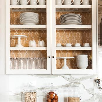 Phillip Jeffries Moroccan Wallpaper, Transitional, kitchen, Alice Lane Home