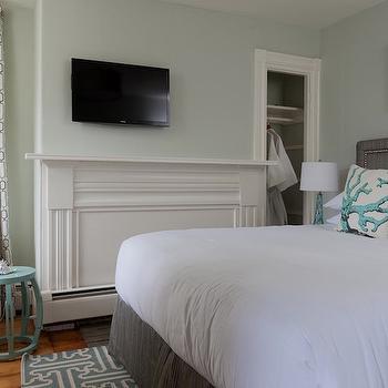 Blue and Gray Bedroom, Eclectic, bedroom, Rachel Reider Interiors
