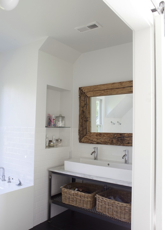 metal industrial bathroom vanity - transitional - bathroom