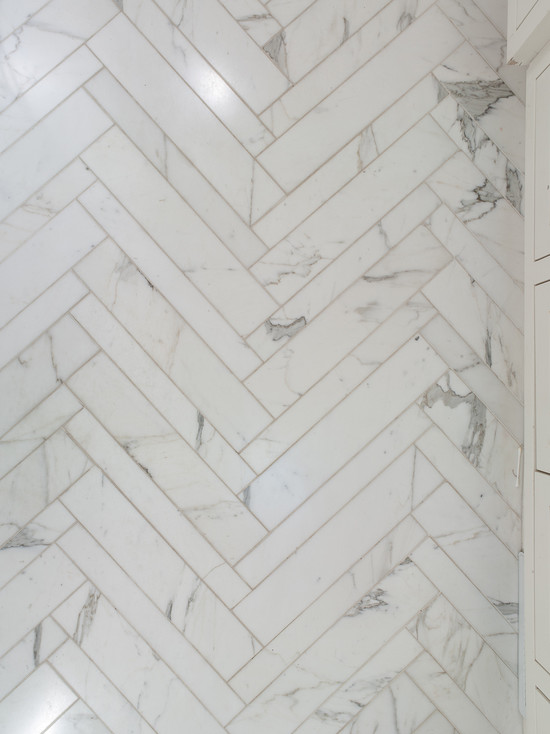 Marble Herringbone Tiles Design Ideas