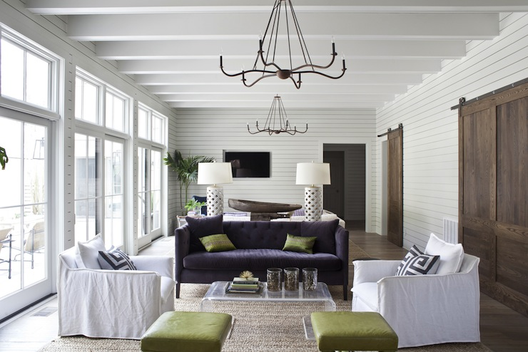 Living Room Split Into 2 Distinct Spaces Eclectic