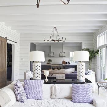 Living Room Split Into 2 Distinct Spaces Eclectic