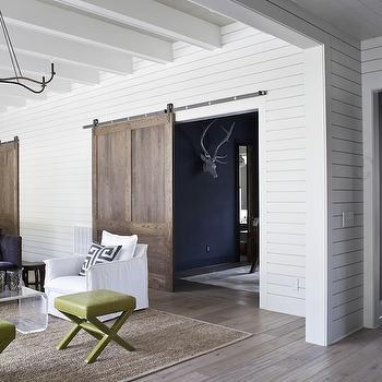 Sliding Barn Door, Eclectic, living room, Heather A Wilson, Architect